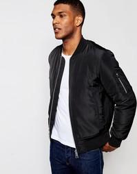 Черная куртка‑пилот с карманами ASOS MA1 - Черный