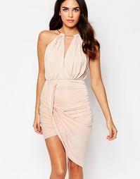 Асимметричное платье с цепочкой на горловине Girl In Mind Alexis