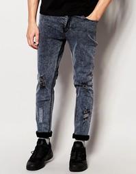 Потертые байкерские джинсы Systvm Perill - Серый