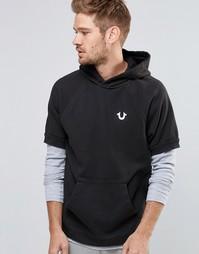 Худи с логотипом и короткими рукавами True Religion - Черный