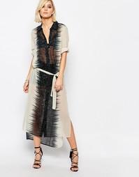 Платье-рубашка миди с принтом Religion Amphibian - Черный