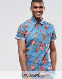 Рубашка классического кроя с цветочным принтом Reclaimed Vintage