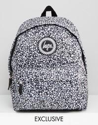Рюкзак с черно-белым мозаичным принтом Hype - Mono mosaic