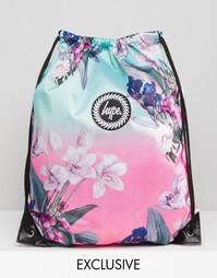Эксклюзивный рюкзак с цветочным принтом и завязкой Hype