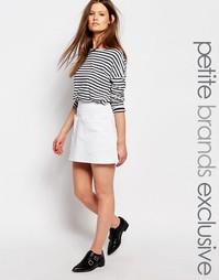 Джинсовая мини-юбка с карманами Waven Petite - Белый