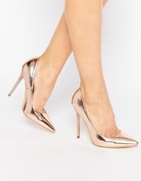 Туфли-лодочки оттенка розового золота Public Desire Josie