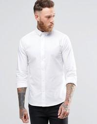 Зауженная стретчевая рубашка с заостренным воротником Noose & Monkey