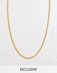 Золотистое ожерелье Reclaimed Vintage 4 мм - Золотой