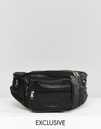 Кожаная сумка‑кошелек на пояс Reclaimed Vintage - Черный