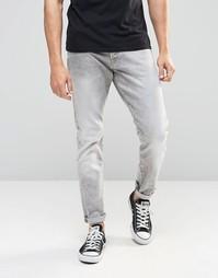 Светло-серые суженные книзу джинсы G‑Star 3301 - Серый