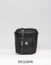 Черная квадратная кожаная сумка Reclaimed Vintage - Черный
