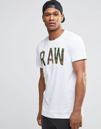 Камуфляжная футболка с принтом Raw G-Star Poskin - Белый