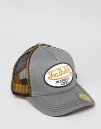 Джинсовая бейсболка Von Dutch - Серый