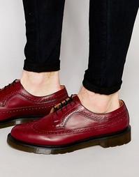 Броги с крыловидной вставкой на носке Dr Martens 3989 - Красный