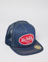 Джинсовая бейсболка Von Dutch - Синий