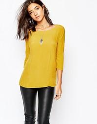 Блузка с длинными рукавами Sisley - Желтый