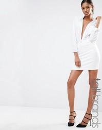 Джинсовая мини-юбка Missguided Tall - Белый