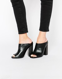 Missguided Block Heeled Mules - Черный