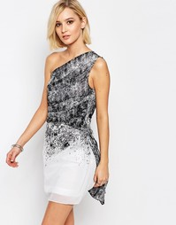 Платье на одно плечо Religion Stardust - Белый