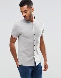 Бейсбольная футболка на пуговицах Le Breve - Серый
