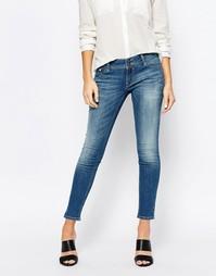 Укороченные облегающие джинсы Esprit - Синий