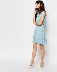 Расклешенная юбка с принтом Just Female Shary - Синий