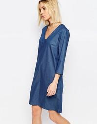 Джинсовое платье‑туника Just Female Branch - Синий деним