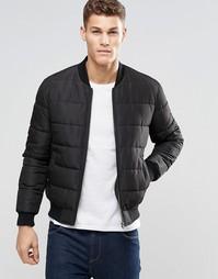 Черная стеганая куртка-пилот ASOS - Черный