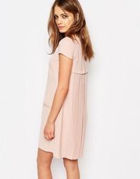 Цельнокройное платье со складками сзади Boss Orange - Ярко-розовый