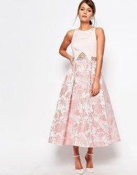 Платье с отделкой на талии Coast Kyla - Blush