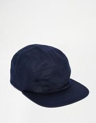 Синяя саржевая 5-панельная кепка ASOS - Синий