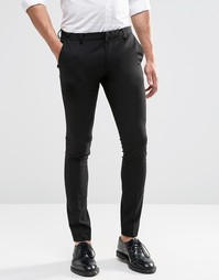 ASOS Extreme Super Skinny Smart Trousers in Black - Черный