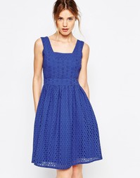 Сарафан с вышивкой ришелье Uttam Boutique - Синий
