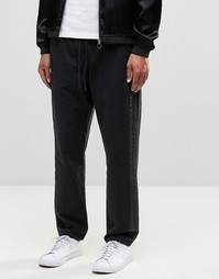 ASOS Slim Jogger with Textured Stripe In Black - Черный