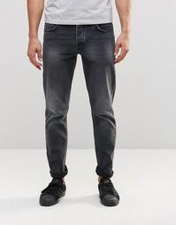 Черные зауженные джинсы с эффектом выцветания ASOS - Выбеленный черный