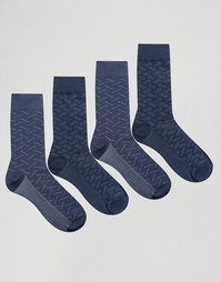 4 пары носков Jack & Jones - Синий