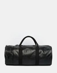 Черная сумка с крокодиловым принтом ASOS - Черный