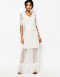 Кружевное платье Boohoo - Слоновая кость