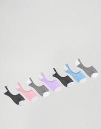 Набор из 7 пар носков невидимок пастельных цветов ASOS - Мульти