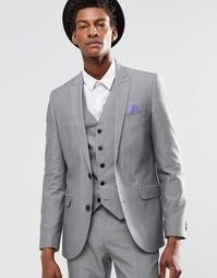 Светло-серый пиджак узкого кроя Harry Brown - Серый