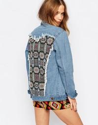 Джинсовая куртка-oversize с отделкой на спинке ebonie n ivory - Синий