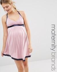 Ночная сорочка для беременных и кормящих мам Cake Strawberry Gateau