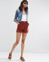 Вельветовые шорты ASOS - Красно-бурый
