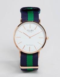Сине-зеленые часы с парусиновым ремешком в полоску Reclaimed Vintage