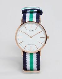 Сине-зеленые часы с полосатым парусиновым ремешком Reclaimed Vintage
