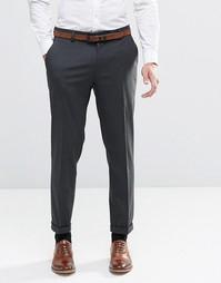 Укороченные темно-серые брюки скинни ASOS - Угольный