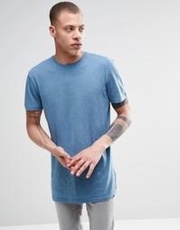 Меланжевая футболка с круглым вырезом ADPT - Niagara melange