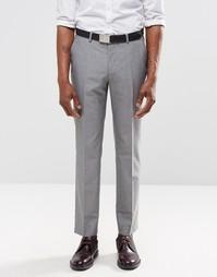 Светло-серые брюки слим Harry Brown - Серый