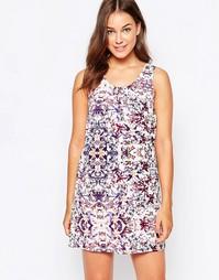 Свободное платье без рукавов JDY - Яркий цветочный принт