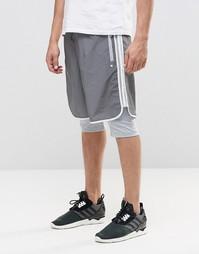 Двухслойные шорты adidas Originals Lux AJ7048 - Белый